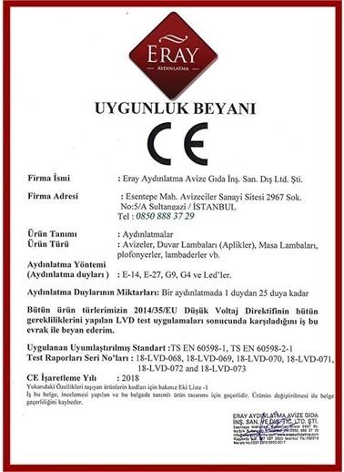 Eray Aydınlatma 3693-4SY Siyah 4 lü Avize Siyah
